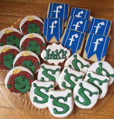 Kelly's Shrek cookies