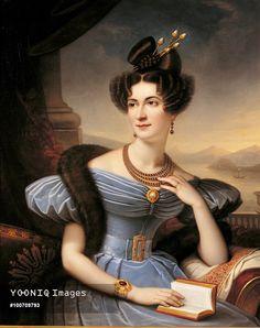 Yooniq images - Portrait of Countess Emilia Sommariva Seilliere, by Boulanger Charles Boisfremont de, 19th Century, 1833, oil on canvas, cm 98 x 79