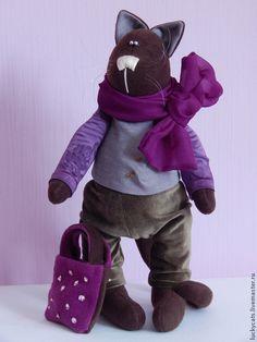 """Интерьерная игрушка """"Таша"""" . Текстильная игрушка, кот, ручная работа"""
