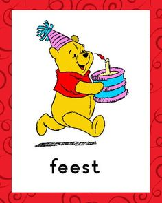 verjaardag Daily Schedule Cards, Pooh Bear, Winnie The Pooh, Disney Characters, Fictional Characters, Memories, Beer, Site, Planners