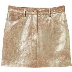 Mango Metallic Skirt, Gold (£18) ❤ liked on Polyvore featuring skirts, metallic skirts, gold skirt, zipper skirt, metallic gold skirt and straight skirts