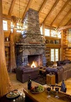 .....yes, my dream home will have a fireplace! (We have one now, wouldn't want to live without one.)