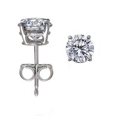 14K White Gold,Round,Diamond Stud Earrings (1/2 ctw,I-J Color,I1-I2 Clarity): Jewelry: Amazon.com $289.00