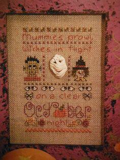 OCTOBER Cross Stitch Pattern Leaflet SB181 by CraftyCrossStitches, $5.00