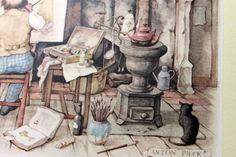 anton pieck prints   ANTON PIECK - The Painter's Studio - PRINT - perfect for framing