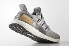 ef2f922ecac44 The adidas Ultra Boost Leather and Suede (Style Code  features a grey  Primeknit upper