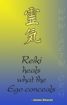 """""""Reiki heals what the ego conceals-James Deacon. Call Atma Bhakti Yoga Center today  (469) 563-2862 or visit facebook.com/atmabhaktiyogacenter for info re prices,  scheduling a time. #Reiki #Healing"""