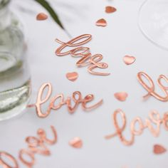 Rose Gold Love Table Wedding Confetti