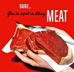 Vintage Meat Art   ... eat meat! by x-ray delta one, via Flickr