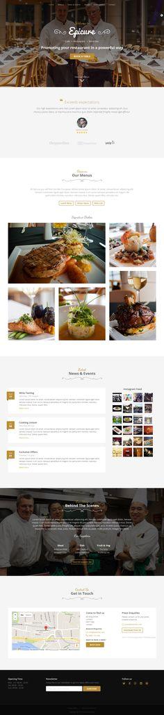 Epicure is a super practical landing page designed for mid-high end restaurants…