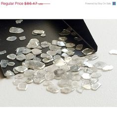 ON SALE 33% Diamond Slices White Diamond Slices by gemsforjewels