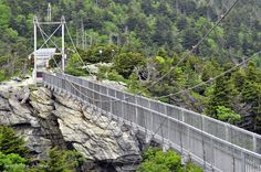 Grandfather Mountain NC ... swinging bridge Photo by Henry Buchanan, been here but was too scared to go across!  Majorly afraid of heights!  I'm such a girl, lol