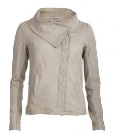 Allsaints Spitalfields kadian jacket (chalk leather)
