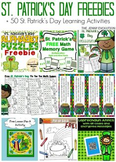 10 Free St Patricks Day Printables for Classroom and Homeschool