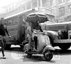 28.02.1960 - Archive O Globo - Street Carnival at Rio de Janeiro city.