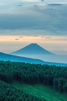 Beautiful Places in the world - heartisbreaking: Fuji distant view by...