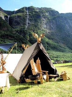 Nice Viking camp setup in Norway