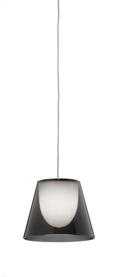 Flos ktribe s1 designové závěsné svítidlo 1x60w g9 kouřová prům 24cm