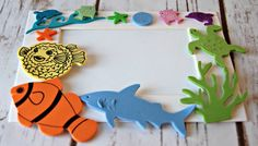 Under the Sea Themed Craft Kit, Magnet Craft, Party Activity, Children's Crafts, Sealife Picture Frame