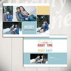 Holiday Card Template: Jingle Bell Rock A by LaurieCosgroveDesign
