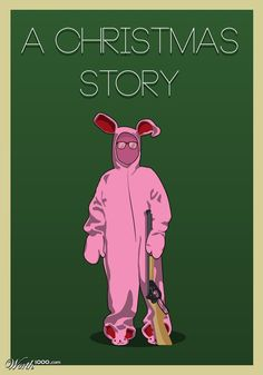 A Christmas Story (1983) ~ Minimal Movie Poster by Tyler Smith #amusementphile