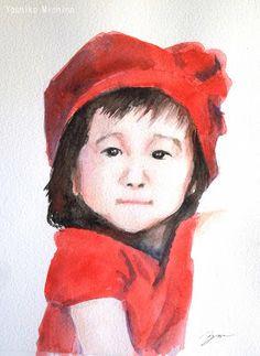 Yoshiko Mishina -Paintings: Painting My Friend's Children (1) 2013