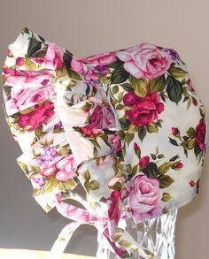 Baby Bonnet- Vibrant Rose Garden - Baby Hat. $19.00, via Etsy.