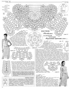 Irish lace, crochet, crochet patterns, clothing and decorations for the house, crocheted. Bruges Lace, Crochet Flowers, Crochet Lace, Crochet Stitches, Crochet Patterns, Crochet Dresses, Zhurnal Mod, Crochet Crop Top, Crochet Tops