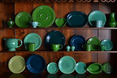 March Fiesta collection- Shamrock, vintage forest green, vintage light green, medium green, Juniper, Evergreen, Seamist. From goodtobehome.co