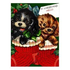 fete noel vintage gifs images - Page 15 Christmas Card Images, Holiday Images, Vintage Christmas Images, Vintage Holiday, Christmas Greeting Cards, Christmas Pictures, Christmas Greetings, Christmas Puppy, Old Christmas