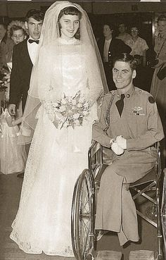 This Korean War veteran and quadruple amputee defied doubters and married his sweetheart in the 1950s.