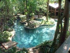 32 Fascinating Lazy River Pool Ideas That Should You Make In Home Backyard, Basically, you've got to specify the type of pool you need and its usage. The pool will surely increase the ambiance of the backyard. You probably req. Lazy River Pool, Backyard Lazy River, Desert Backyard, Backyard Kitchen, Natural Backyard Pools, Backyard Pool Landscaping, Landscaping Ideas, Acreage Landscaping, Diy Swimming Pool