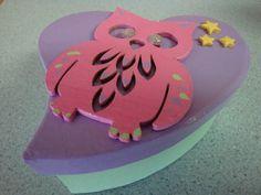 Owl and Stars Heart Keepsake PyroBox by PyroBoxes on Etsy