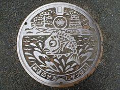 Mihonoseki Shimane manhole cover (島根県美保関町のマンホール) by MRSY, via Flickr