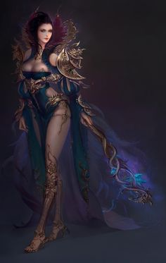 Image from fantasy and syfy. Fantasy Art Women, 3d Fantasy, Fantasy Warrior, Anime Fantasy, Fantasy Girl, Fantasy Artwork, Dark Fantasy, Fantasy Characters, Female Characters