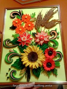 quilling summer bouquet