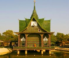 The Wat Pa Maha Chedio Kaew temple has found a way to bottle-up Nirvana, literally.  The temple, which sits in Thailand's Sisaket province, roughly 370 miles northeast of Bangkok is made of more than a million recycled glass bottles.  True to its nickname,