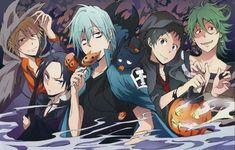 Halloween anime boys Servamp wolf pumpkin vampire prisoner cat bats