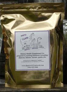 mama llama herbal formula 1 lbHerd Health > Homeopathic > mama llama herbal formula 1 lb  Powdered herbal formula to top dress on feed or mix in water to give orally to improve milk production and vitality during pregnancy and lactation. Herbs in this formula come from Peru and the blend is formulated in a lab in California with the specific needs of llamas and alpacas in mind. Delivered in reseal-able bags Funny Tee Shirts, Alpacas, The Ranch, Formula 1, Peru, Homestead, Herbalism, Improve Yourself, Lab