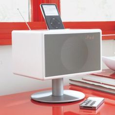 I've had my eye on this gorgeous speaker for a while.  Comes in shiny red, too!