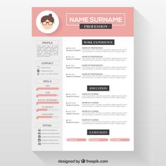 find this pin and more on cv template - Creative Free Resume Templates