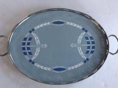 Villeroy-Boch-Antique-Serving-Tray-Platter-Art-Nouveau-Dresden-Saxony-2519