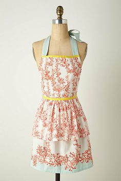coral apron | i love this, i think it would be easy enough to copy it and make a DIY version