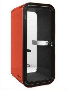 Phone Booth office by Framery Orange is the new Black .  Dimensions : 221 x 100 x 100   Disponible immédiatement chez http://mobilier-bureau-suisse.com/