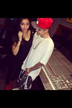 Madison Beer and Justin in the studios
