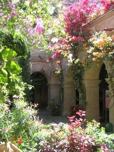 lush gardens of Oaxaca, Mexico~a glass of iced tea and I'd never leave...