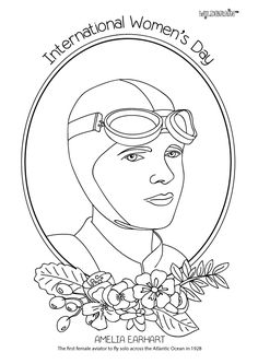 Inspired by the fab @alphamom, we've made a set of colouring sheets honouring amazing women for International Women's Day 2017. Feel free to download and colour in! This one is Amelia Earhart, the first female aviator to fly across the Atlantic by herself.