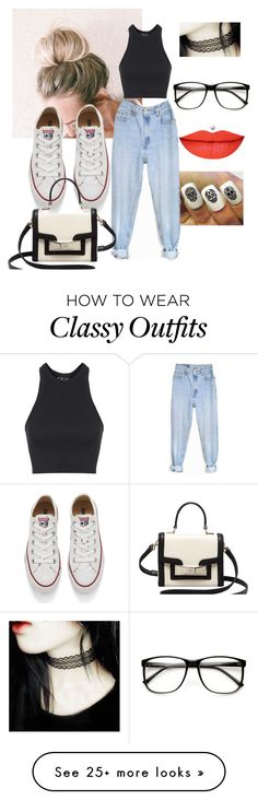 """""""classy chic"""" by brutus061 on Polyvore featuring Topshop, Levi's, Converse, Kate Spade, women's clothing, women, female, woman, misses and juniors"""