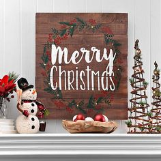 LED Merry Christmas Slatted Wood Plank Plaque | Kirklands