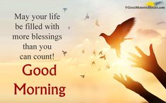 Good Morning Blessings Images Quotes for best wishes ever. Hearlty blessings to your loved ones, family members, kids. A blessing can change whole day in positive way. Blessed Morning Quotes, Good Morning Friends Quotes, Morning Qoutes, Good Morning Prayer, Good Morning Inspirational Quotes, Morning Greetings Quotes, Morning Blessings, Good Morning Messages, Good Night Quotes